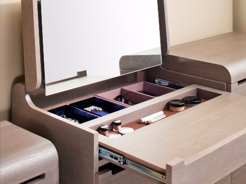 Stylish storage cosmetics - dressing table