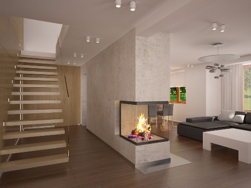 Home fireplace - fireplace arrangements in our projects