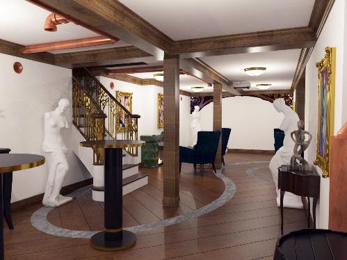 Projekt aranżacji wnętrza Ambasady RP w Hadze