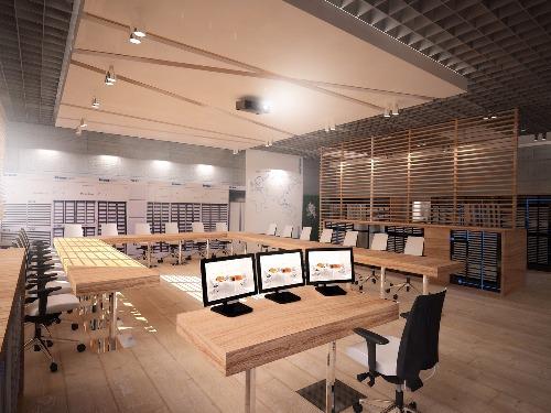 Projekt  i aranżacji biur firmy Kronospan